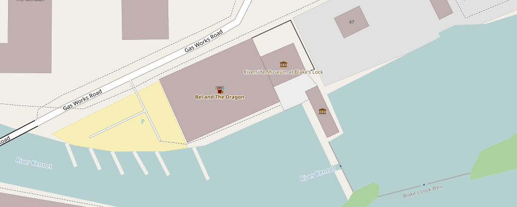 Map snippet showing pub icon with blue roof for accommodation